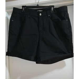 JOE FRESH Black Jean Shorts